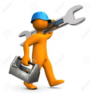 15234402-orange-cartoon-character-walks-with-big-wrench-on-the-white-background