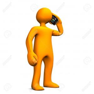 16178024-orange-cartoon-character-phones-with-smartphone-white-background